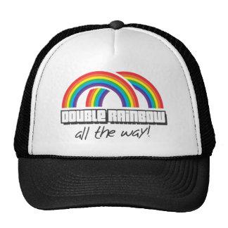 Double rainbow, all the way! trucker hat