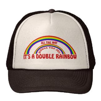 DOUBLE RAINBOW - ALL THE WAY ! TRUCKER HAT