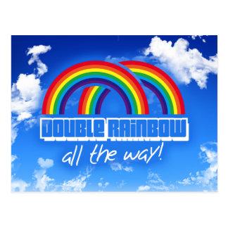 Double rainbow, all the way! post card
