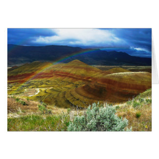 Double Rainbow and Painted Hills 1 Greeting Card