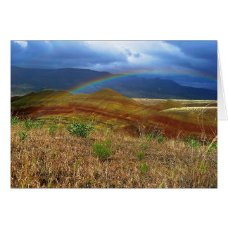 Double Rainbow and Painted Hills 2 Greeting Card