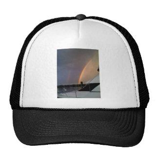Double rainbow at sea trucker hat