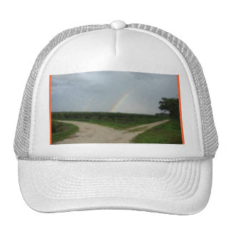 Double Rainbow at the Crossroads Trucker Hat