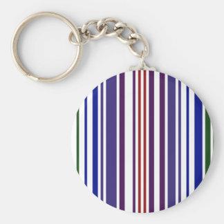 Double Rainbow Barcode Basic Round Button Keychain