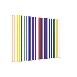 Double Rainbow Barcode Canvas Print