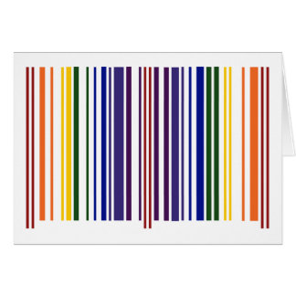 Double Rainbow Barcode Card