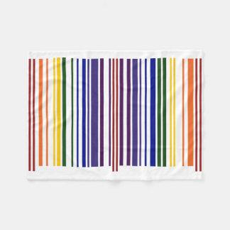 Double Rainbow Barcode Fleece Blanket