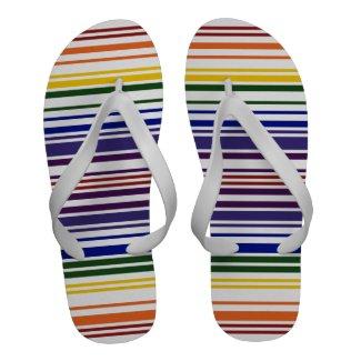 Double Rainbow Barcode Flip-Flops