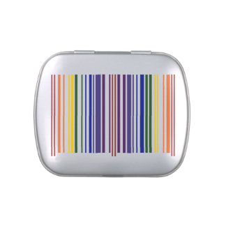 Double Rainbow Barcode Jelly Belly Candy Tin