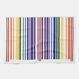 Double Rainbow Barcode Kitchen Towel