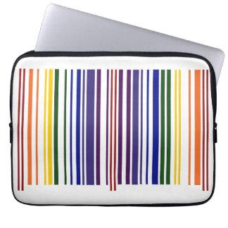 Double Rainbow Barcode Laptop Sleeve