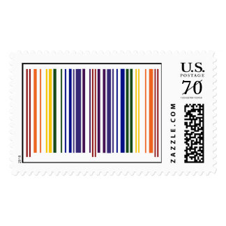 Double Rainbow Barcode – Large Postage
