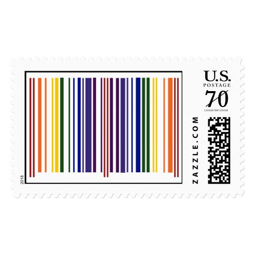 Double Rainbow Barcode – Large Postage Stamps
