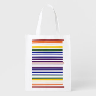 Double Rainbow Barcode Market Tote