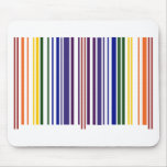 Double Rainbow Barcode Mousepads