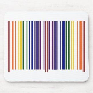 Double Rainbow Barcode Mousepads