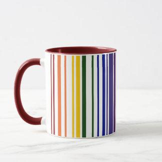 Double Rainbow Barcode Mug