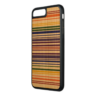 Double Rainbow Barcode on Natural Wood Case