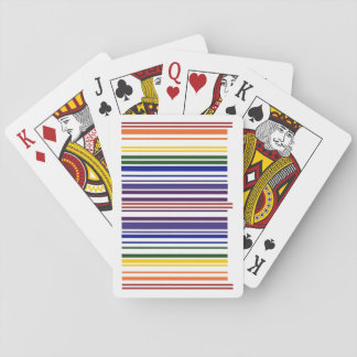 Double Rainbow Barcode Playing Cards