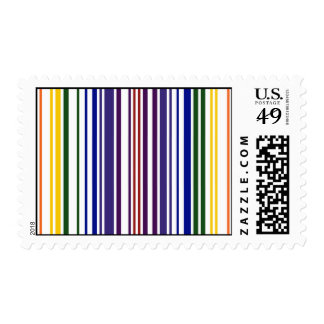 Double Rainbow Barcode Postage Stamp