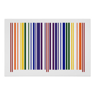 Double Rainbow Barcode Poster