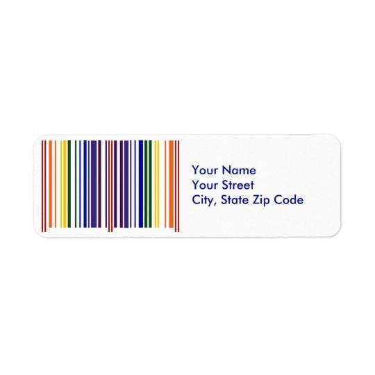 double rainbow barcode return address label zazzle com