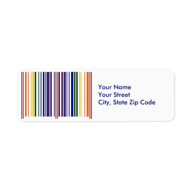Double Rainbow Barcode return address label