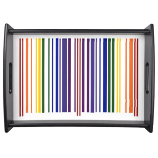 Double Rainbow Barcode Serving Tray