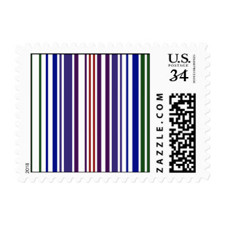 Double Rainbow Barcode – Small Postage Stamp