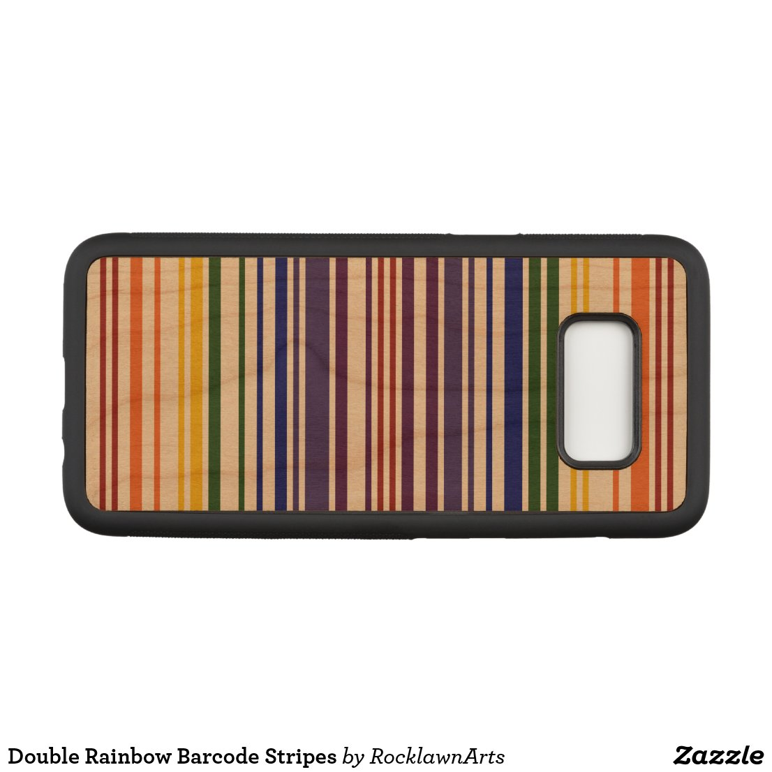 Double Rainbow Barcode Stripes Carved Samsung Galaxy S8 Case