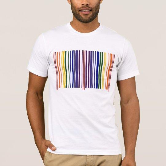 Double Rainbow Barcode T-Shirt