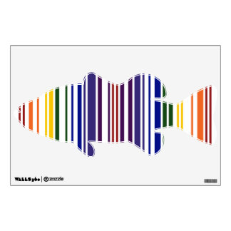 Double Rainbow Barcode Wall Decal