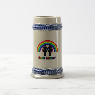 Double Rainbow Beer Stein