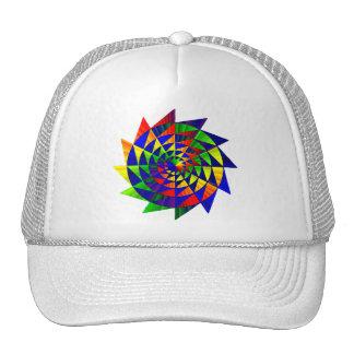 Double Rainbow Cap Mesh Hats