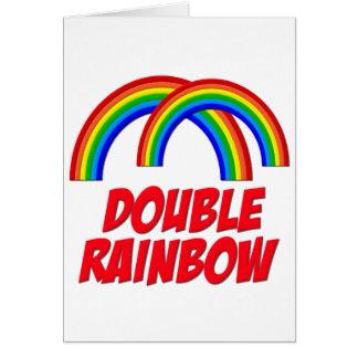 Double Rainbow Card
