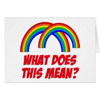 Double Rainbow Cards