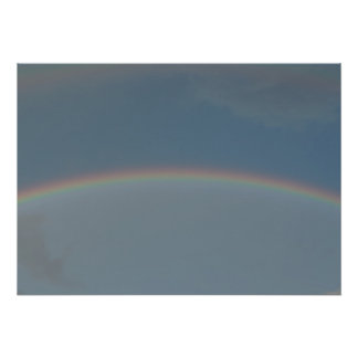 Double Rainbow circel in the sky Poster