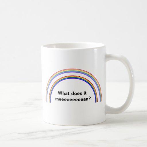 Double Rainbow Classic White Coffee Mug