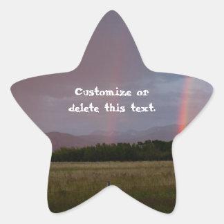 Double Rainbow; Customizable Star Sticker