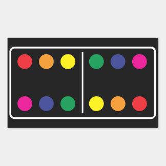 Double Rainbow Domino Sticker