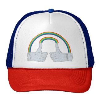 Double Rainbow Double Thumbs Up 2 Trucker Hat