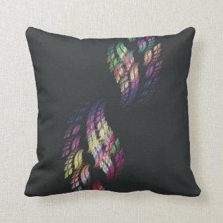 Double Rainbow Flame Throw Pillows