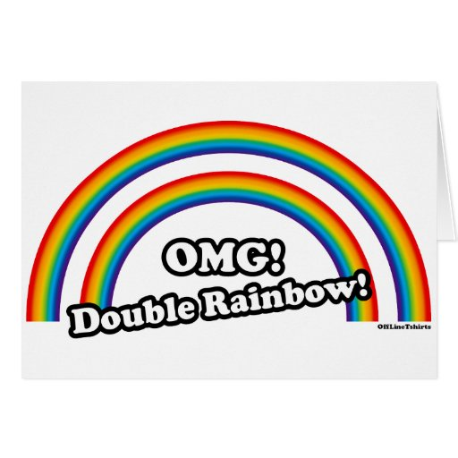 Double Rainbow Greeting Cards