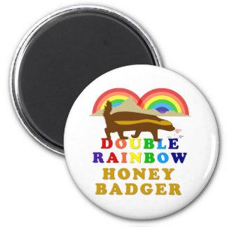 double rainbow honey badger 2 inch round magnet