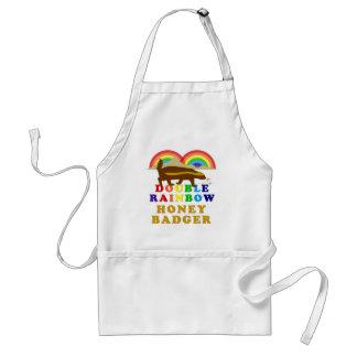 double rainbow honey badger adult apron