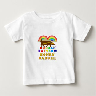 Double Rainbow Honey Badger Baby T-Shirt