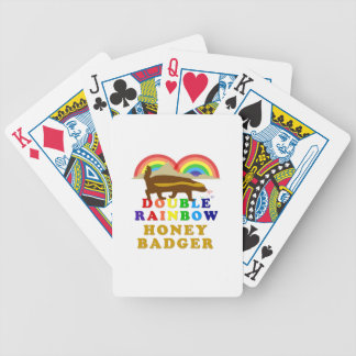 Double Rainbow Honey Badger Bicycle Playing Cards