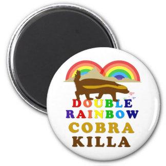 Double Rainbow Honey Badger Cobra Killa 2 Inch Round Magnet