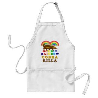 Double Rainbow Honey Badger Cobra Killa Adult Apron