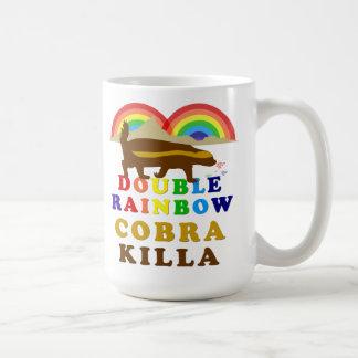 double rainbow honey badger cobra killa coffee mug